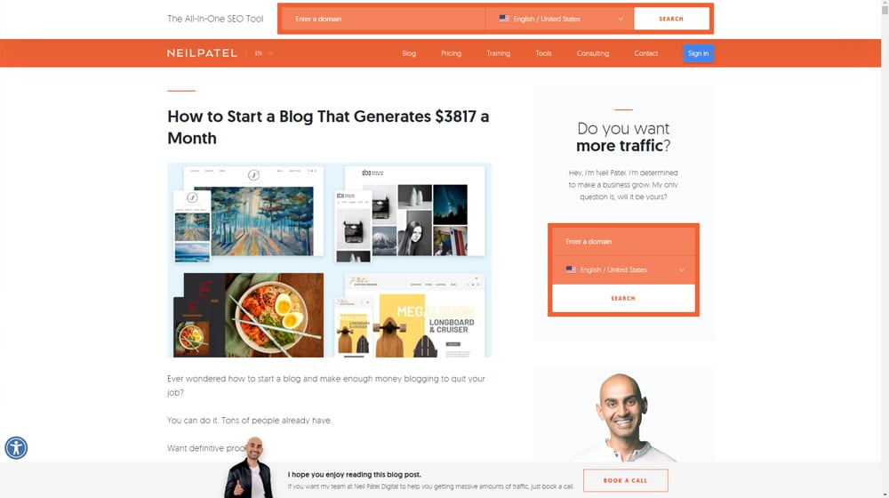 How to Start a Blog by Neil Patel