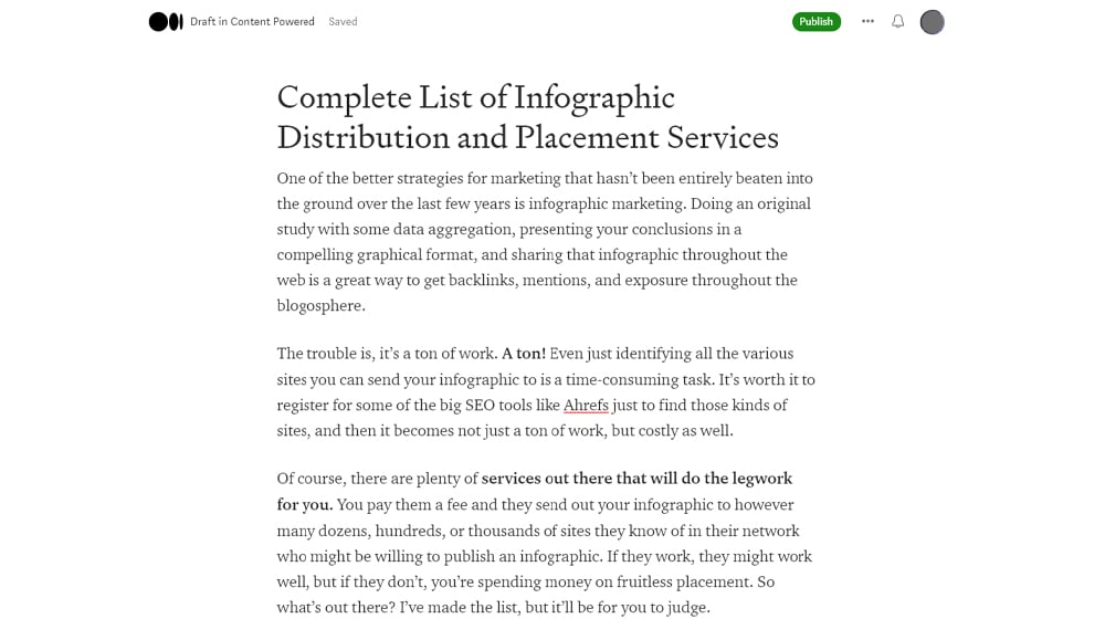 Infographic Services