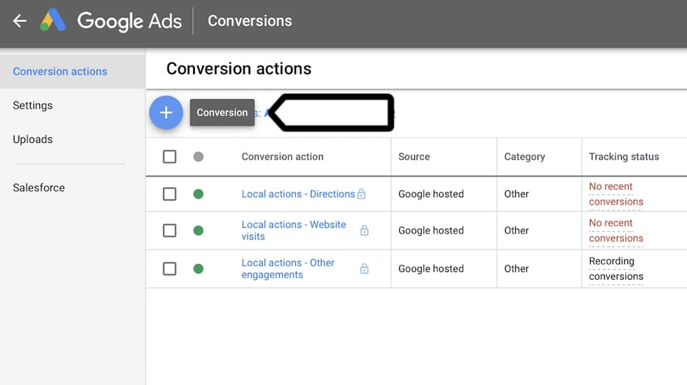 Google Ads No Conversions