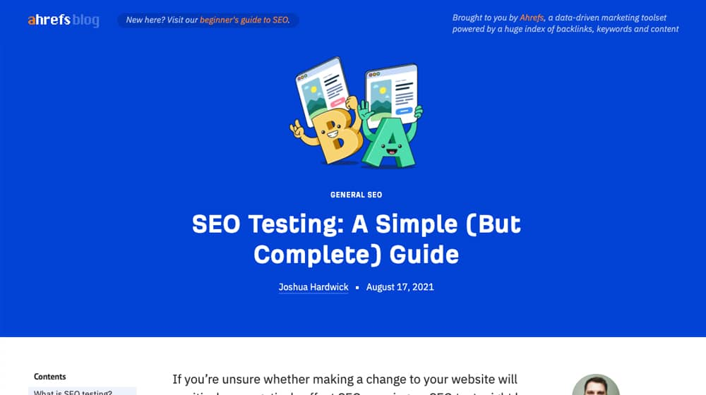 Ahrefs Blog SEO Testing