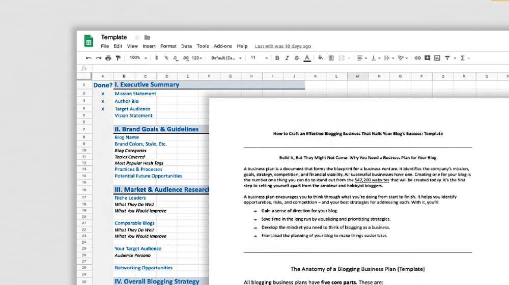 Blog Strategy Template