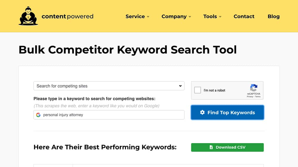 Competitor Search Tool