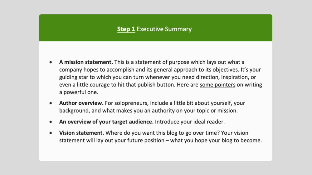 Executive Summary Step