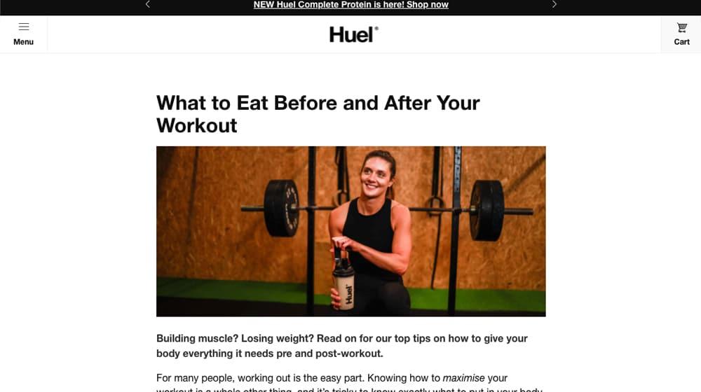 Huel Blog Post