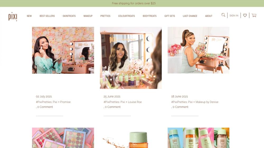 Pixi Blog Example