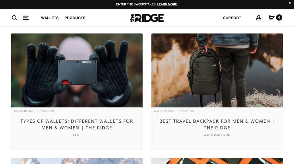 The Ridge Blog