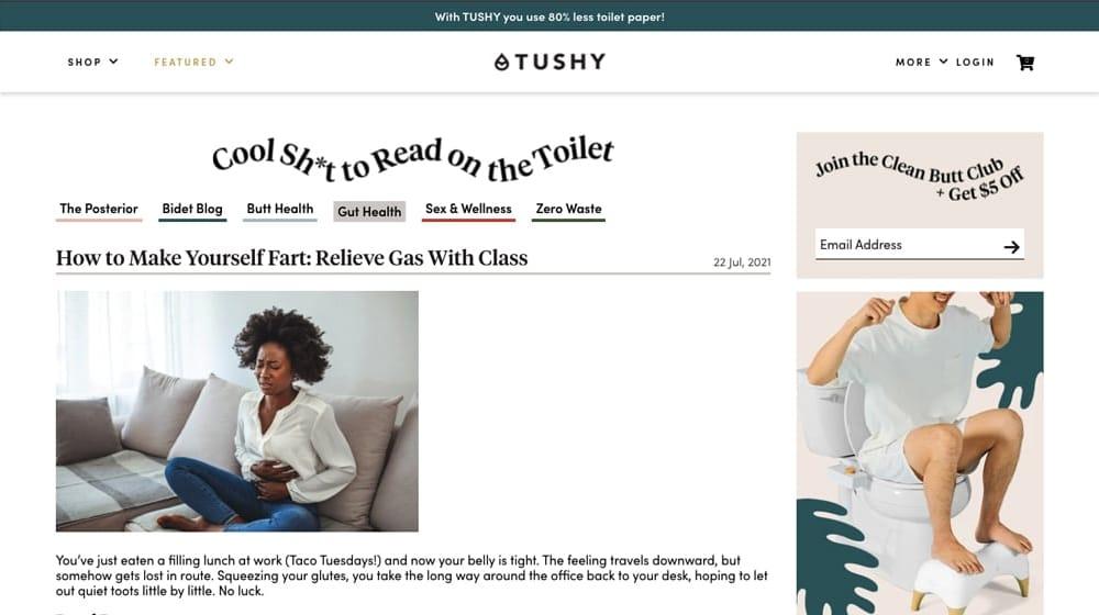 Tushy Blog