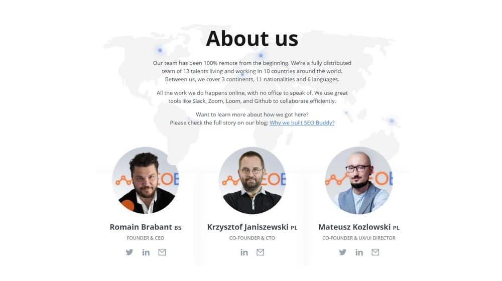 About Us Example