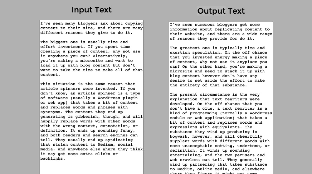Article Spinner Example