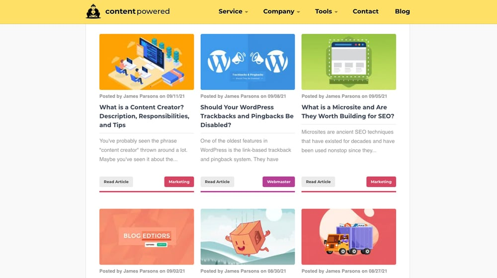 Content Powered Blog