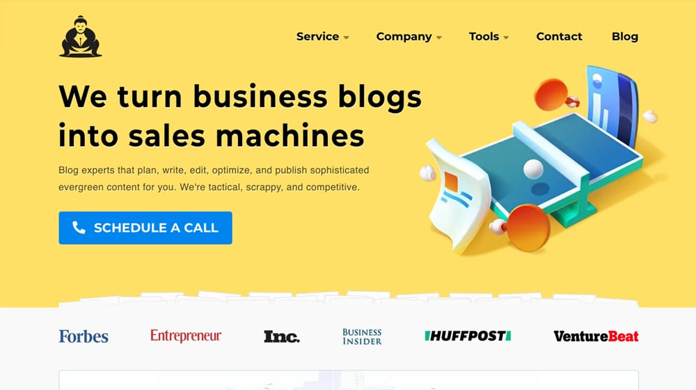 Content Powered Homepage