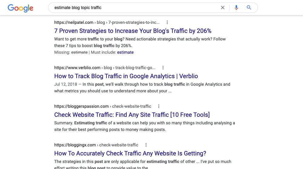 Estimate Blog Traffic