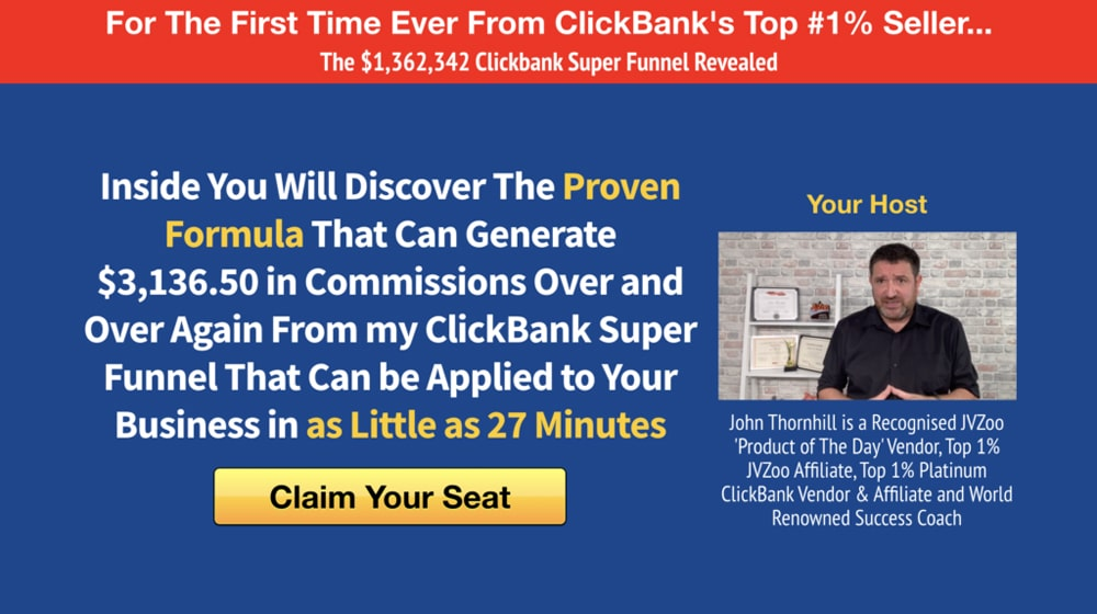 Example Clickbank Offer
