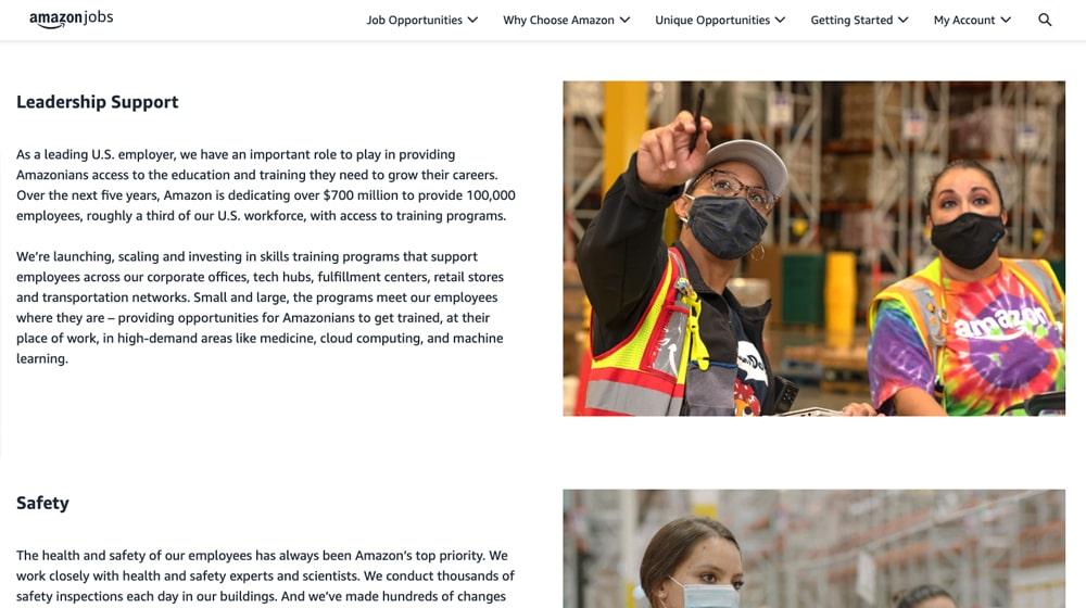 Amazon Leadership Page